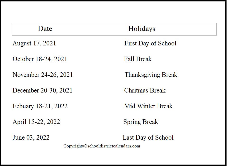 Jordan County School District Proposed Calendar 2021-2022