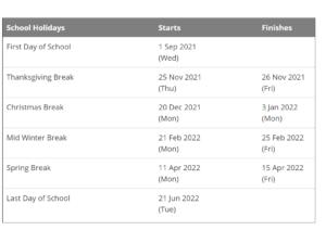 Bellevue School District Calendar Holidays 2021-2022