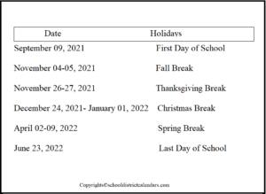 Clark County School District Proposed Calendar 2021-2022