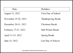 Issaquah County School District Proposed Calendar 2021-2022