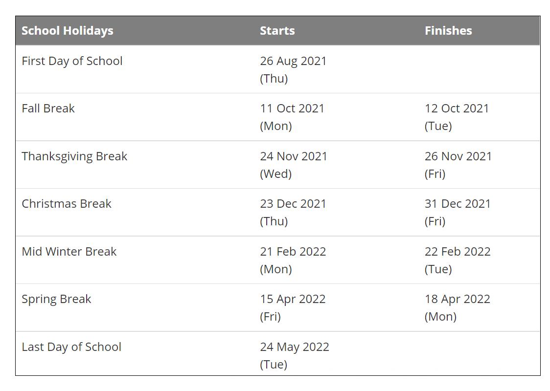 Sioux Falls District School Calendar Holidays 2021-2022