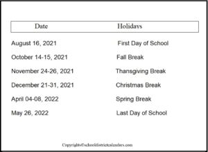 Canyons County School District Proposed Calendar 2021-2022