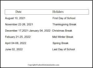 Hemet Unified County School District Proposed Calendar 2021-2022