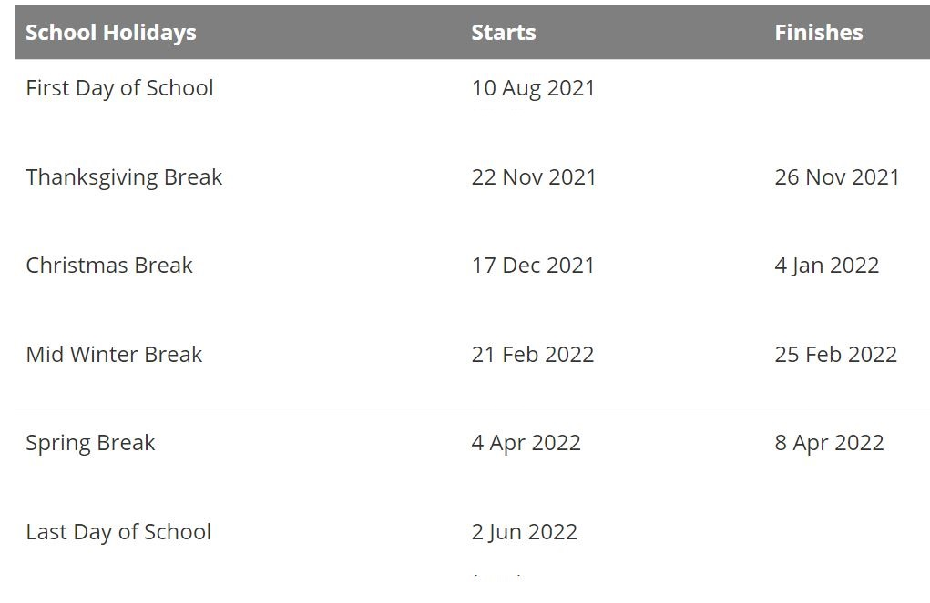 Hemet Unified School District Holidays 2021-2022 Calendar
