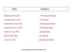 Salem-Keizer County School District Proposed Calendar 2021-2022