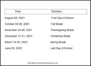 Washoe County School District Proposed Calendar 2021-2022